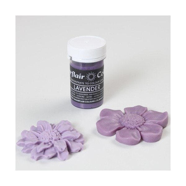 Sugarflair Lavender Pastel Paste Colour - 25g