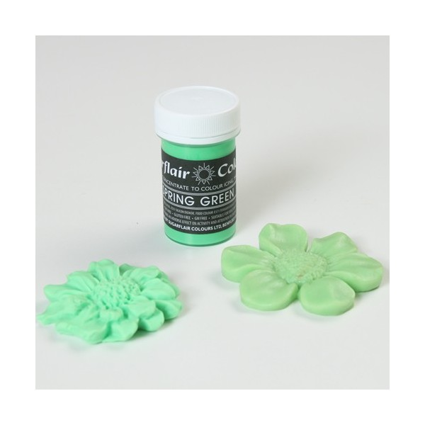 Sugarflair Spring Green Pastel Paste Colour - 25g