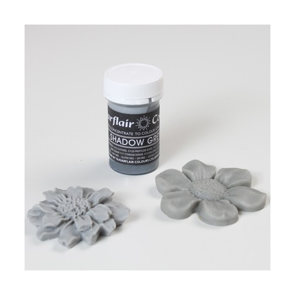 Sugarflair Shadow Grey Pastel Paste Colour - 25g