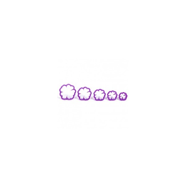 Kit stampi rosa canina Decora 5 pezzi - Decora in vendita su Sugarmania.it