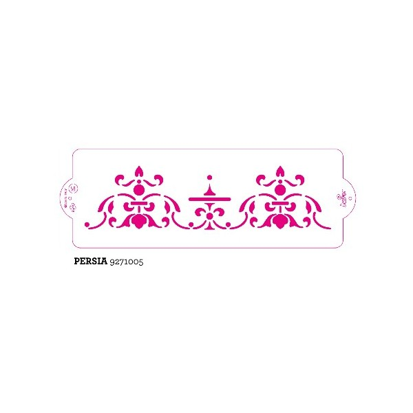 Stencil per torte Persia Decora 10 x 30 cm - Decora in vendita su Sugarmania.it