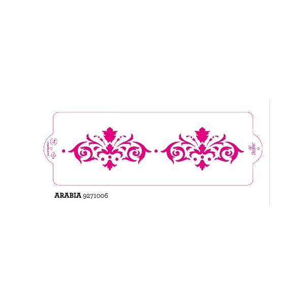 Stencil per torte Arabia Decora 10 x 30 cm - Decora in vendita su Sugarmania.it