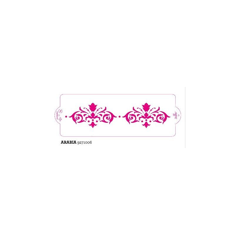 Stencil per torte Arabia Decora 10 x 30 cm - Decora in vendita su Sugarmania.it