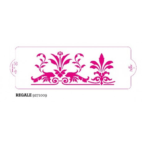Stencil per torte Regale Decora 10 x 30 cm - Decora in vendita su Sugarmania.it