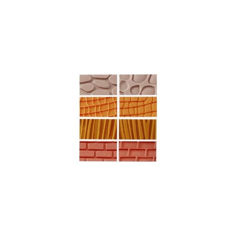 Kit 4 fogli decorativi muro/ legno/ pietra - Decora in vendita su Sugarmania.it