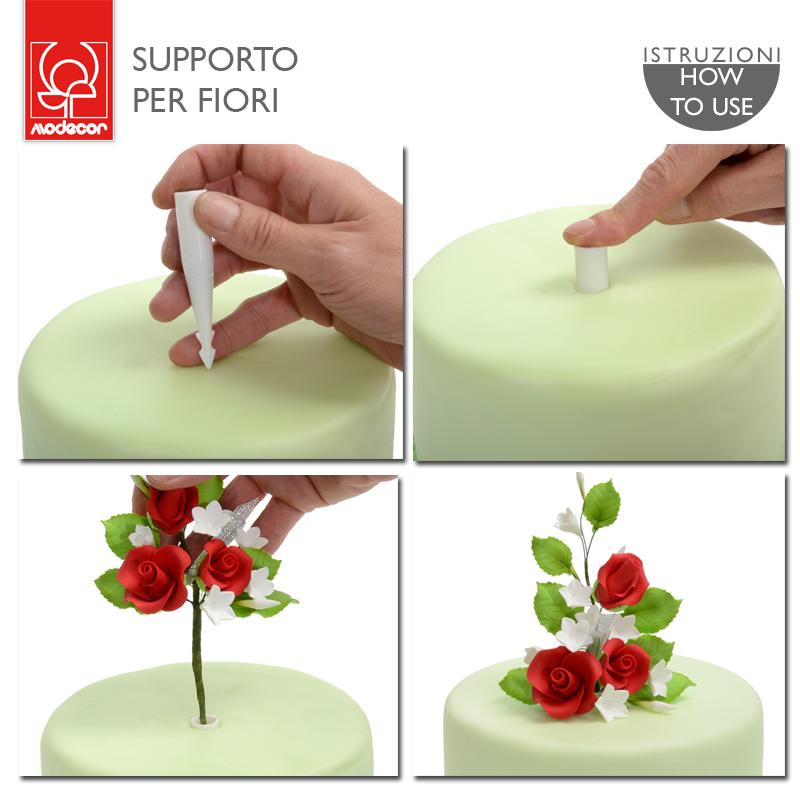 Supporto per fiori 6 pezzi -  in vendita su Sugarmania.it