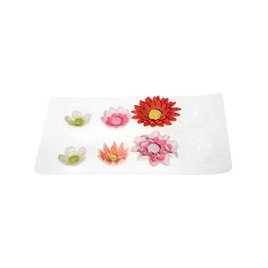 Supporto modella fiori grande , 8 cavità set 2 pezzi - Modecor in vendita su Sugarmania.it
