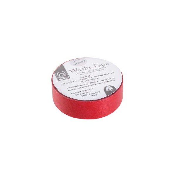 Nastro adesivo per cake board Washi Tape ROSSO - Modecor in vendita su Sugarmania.it