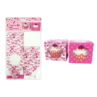 Set 6 scatole porta cupcakes singoli, 2 disegni - in vendita su Sugarmania.it