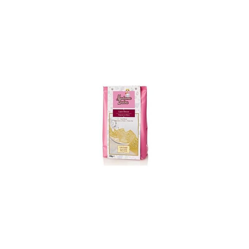 Lace Decor Madam Loulou GIALLO vaniglia 250 g - Madam Loulou in vendita su Sugarmania.it