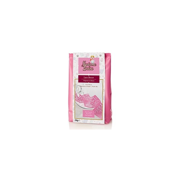 Lace Decor Madam Loulou ROSA fragola 250 g - Madam Loulou in vendita su Sugarmania.it