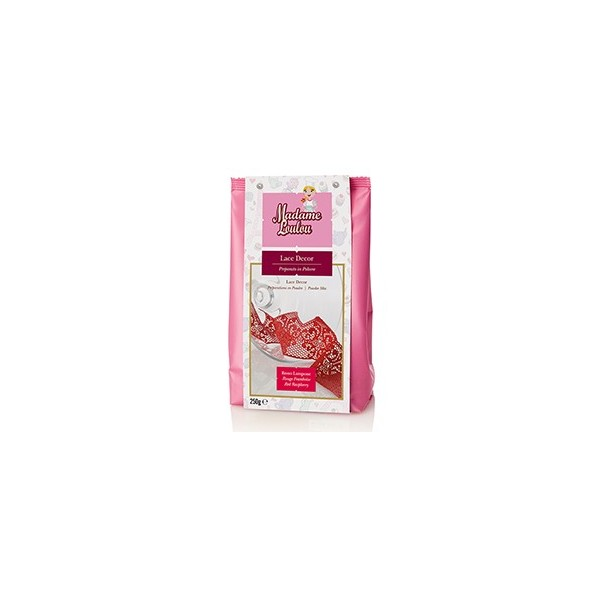 Lace Decor Madam Loulou ROSSO lampone 250 g - Madam Loulou in vendita su Sugarmania.it