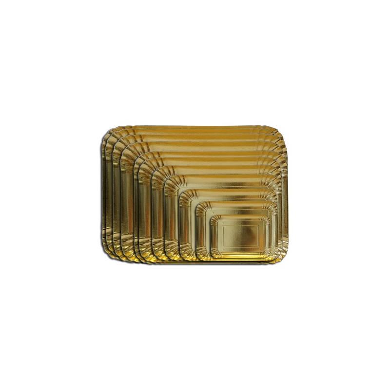 Vassoio rettangolare oro 21,5 x 14 cm - in vendita su Sugarmania.it