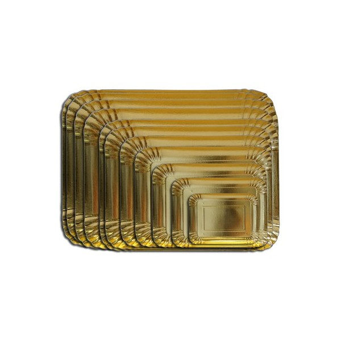 Vassoio rettangolare oro 24 x 16 cm  -  in vendita su Sugarmania.it