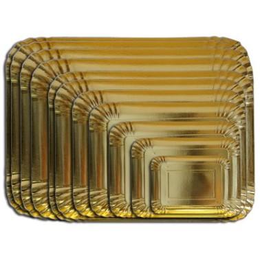 Vassoio rettangolare oro 48 x 35 cm  -  in vendita su Sugarmania.it