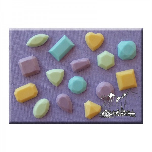 Stampo in silicone 15 gemme Alphabet Moulds - in vendita su Sugarmania.it