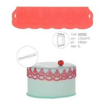 Stampo silicone Modecor DRAPPEGGIO - in vendita su Sugarmania.it