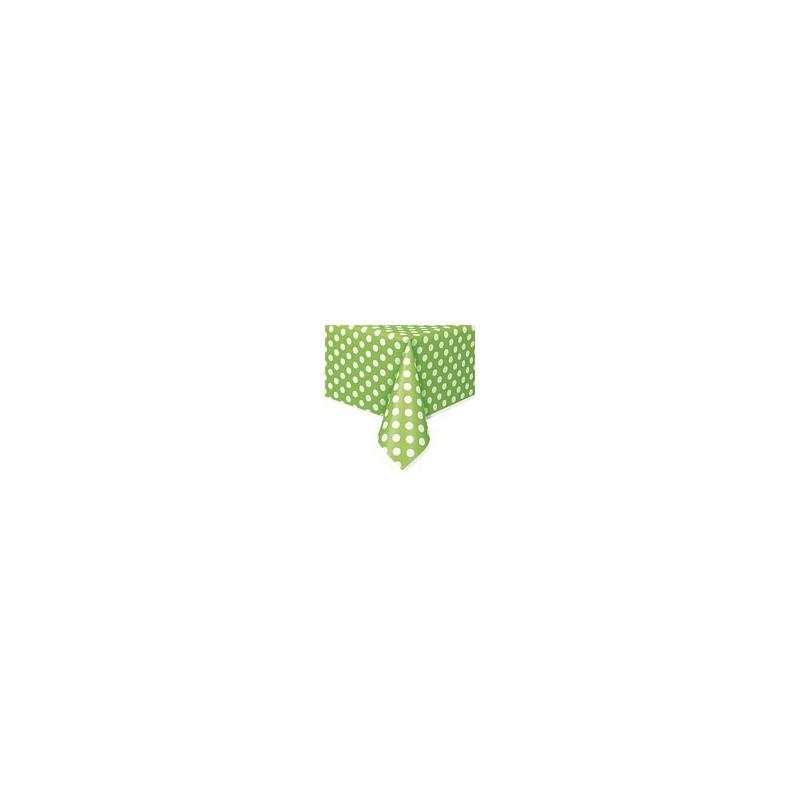 Tovaglia in plastica a pois verde -  in vendita su Sugarmania.it