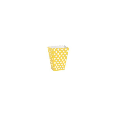 Contenitore giallo a pois 8 pezzi - in vendita su Sugarmania.it