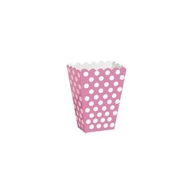 Contenitore rosa a pois 8 pezzi - in vendita su Sugarmania.it
