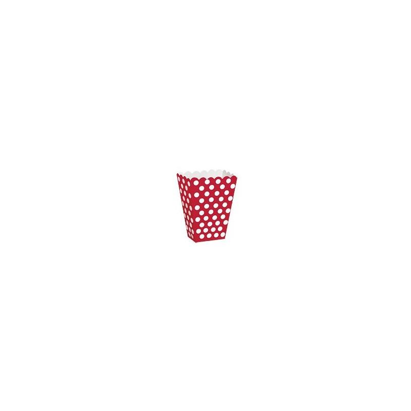 Contenitore rosso a pois 8 pezzi -  in vendita su Sugarmania.it