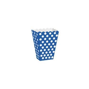 Contenitore blu a pois 8 pezzi - in vendita su Sugarmania.it