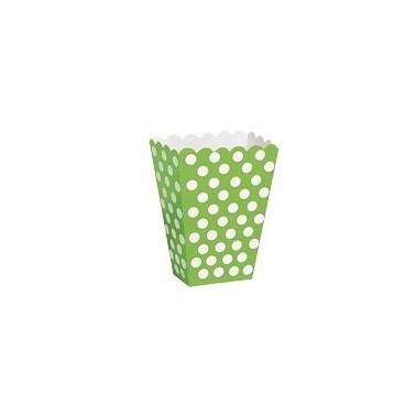Contenitore verde a pois 8 pezzi - in vendita su Sugarmania.it
