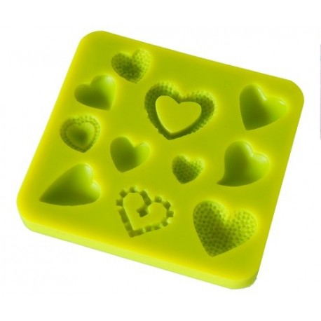 Stampo silicone cuori - in vendita su Sugarmania.it