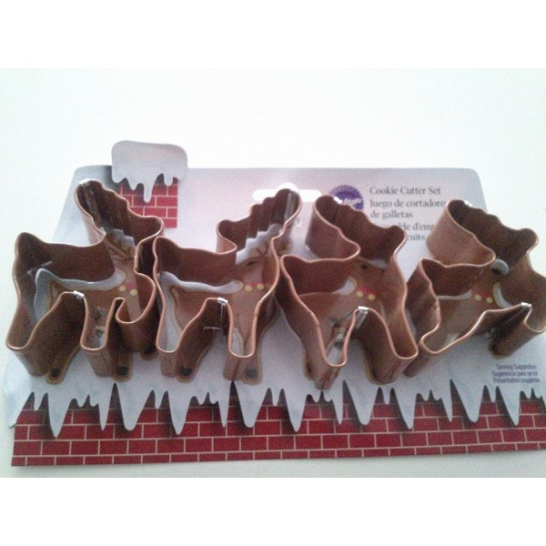 Set 4 taglia biscotti renne Wilton -  in vendita su Sugarmania.it