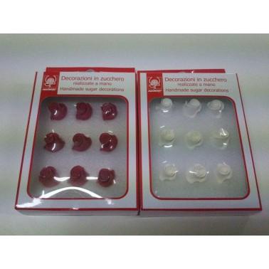Boccioli rose Modecor bianche 9 pezzi - Modecor in vendita su Sugarmania.it
