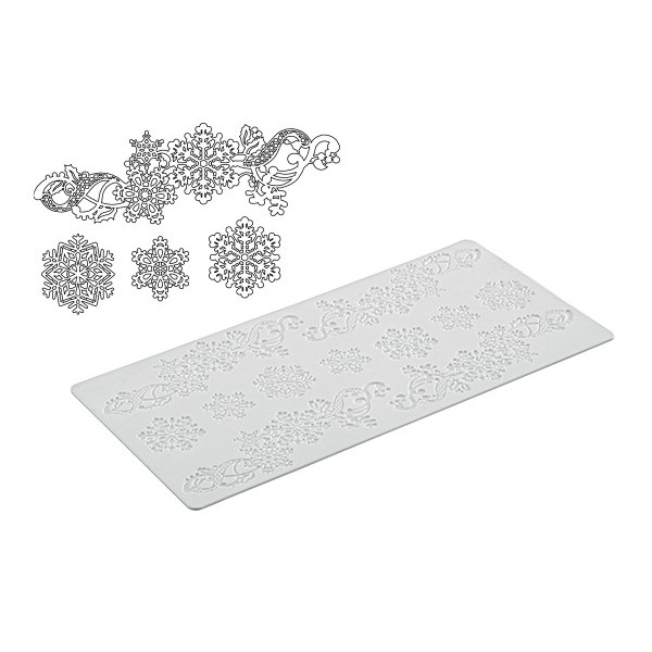 Tappeto DECOR SNOWFLAKES Silikomart - Silikomart in vendita su Sugarmania.it