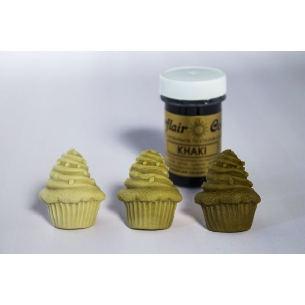 Sugarflair Paste Colours - KHAKI - 25g - Sugarflair in vendita su Sugarmania.it