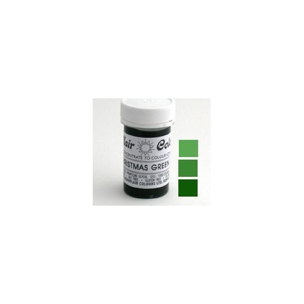 Sugarflair Paste Colour CHRISTMAS green, 25gr - Sugarflair in vendita su Sugarmania.it