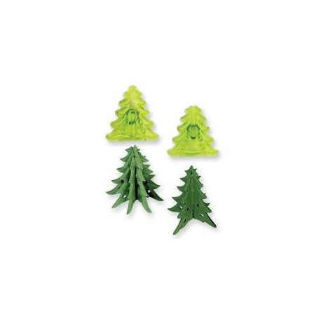 Set 2 cutter JEM albero di natale 3d - in vendita su Sugarmania.it