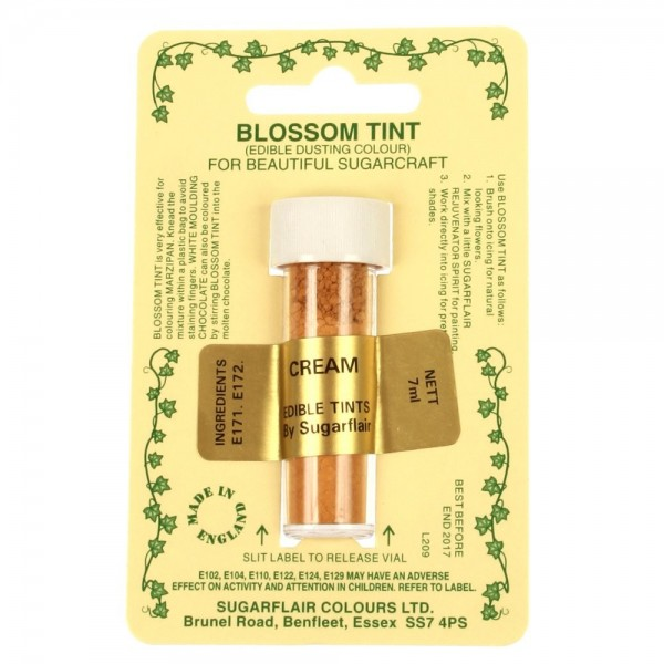 Sugarflair Blossom Tint Powdered Food Colour Dust - CREAM - Sugarflair in vendita su Sugarmania.it