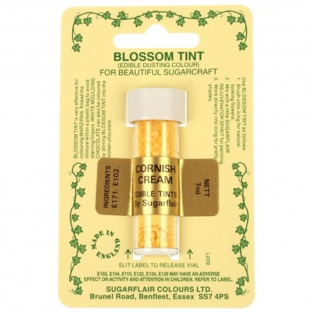 Sugarflair Blossom Tint Powdered Food Colour Dust - CORNISH CREAM - Sugarflair in vendita su Sugarmania.it