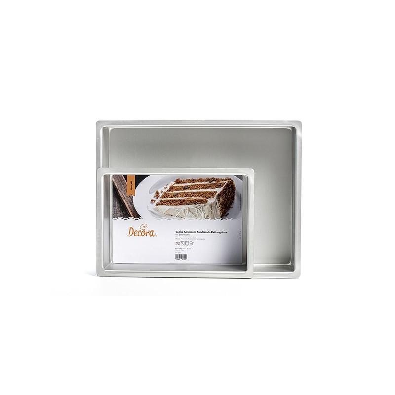 Teglia rettangolare 20 x 30 cm altezza 10 cm Decora - Decora in vendita su Sugarmania.it