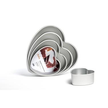 Teglia cuore professionale alluminio anodizzato 15 cm altezza 7,5 cm Decora