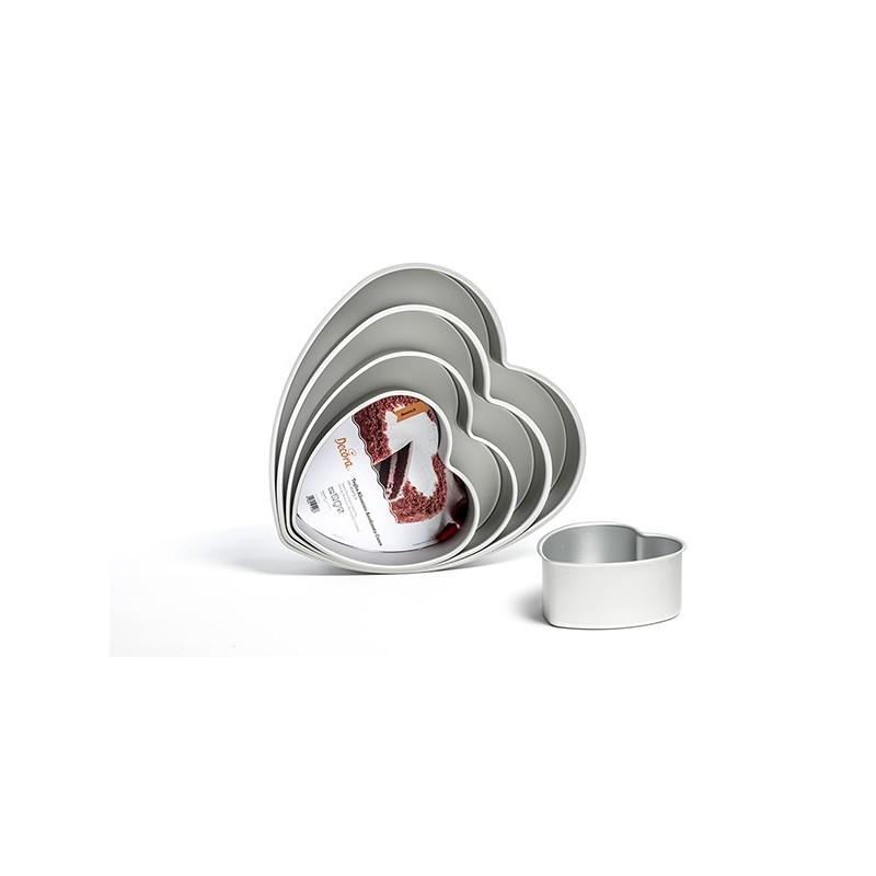 Teglia cuore 15 cm altezza 7,5 cm Decora - Decora in vendita su Sugarmania.it