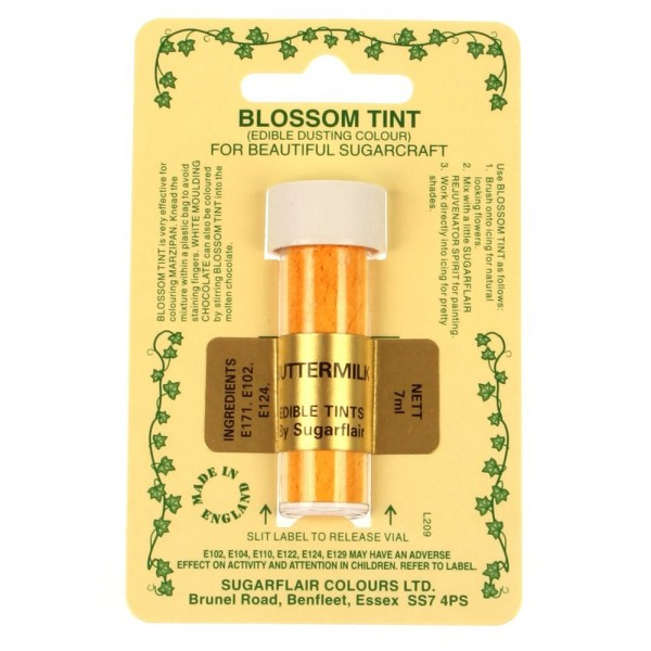 Sugarflair Blossom Tint Powdered Food Colour Dust - BUTTERMILK  - Sugarflair in vendita su Sugarmania.it