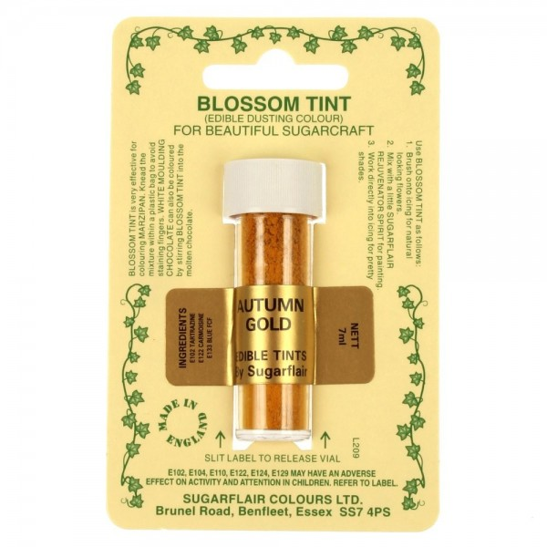 Sugarflair Blossom Tint Powdered Food Colour Dust - AUTUMN GOLD - Sugarflair in vendita su Sugarmania.it