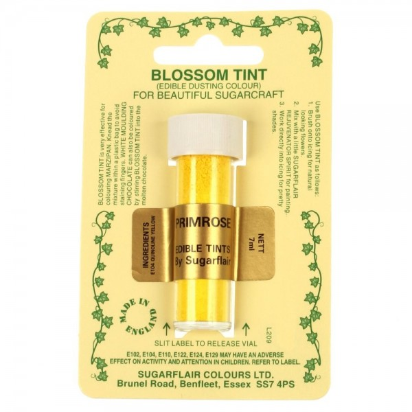 Sugarflair Blossom Tint Powdered Food Colour Dust - PRIMROSE - Sugarflair in vendita su Sugarmania.it