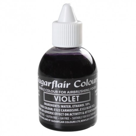 Colorante per aerografo VIOLA (Violet) Sugarflair 60 ml  - Sugarflair in vendita su Sugarmania.it