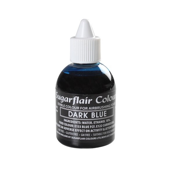 Colorante per aerografo BLU (Dark Blu) Sugarflair 60 ml  - Sugarflair in vendita su Sugarmania.it
