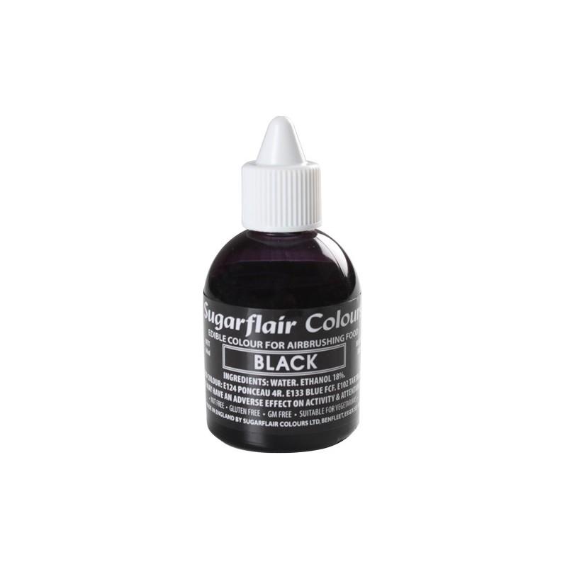 Colorante per aerografo NERO (Black) Sugarflair 60 ml - in vendita su Sugarmania.it