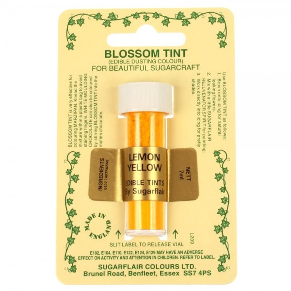 Sugarflair Blossom Tint Powdered Food Colour Dust - LEMON YELLOW - Sugarflair in vendita su Sugarmania.it