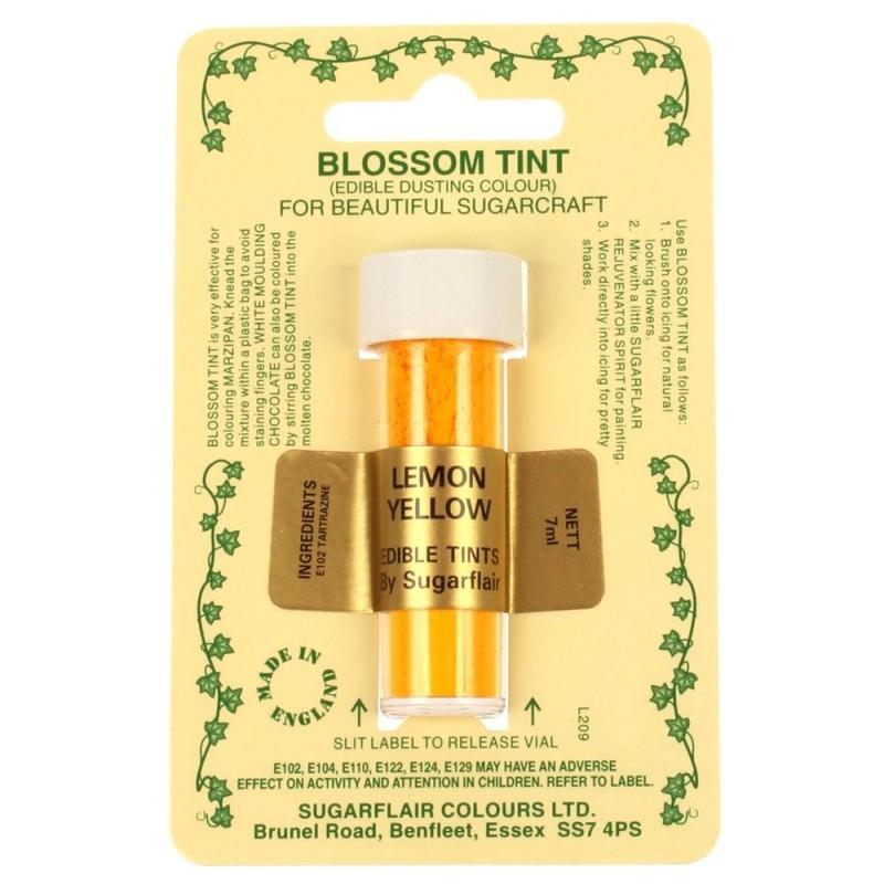 Sugarflair Blossom Tint Powdered Food Colour Dust - LEMON YELLOW - Sugarflair in vendita su Sugarmania.it