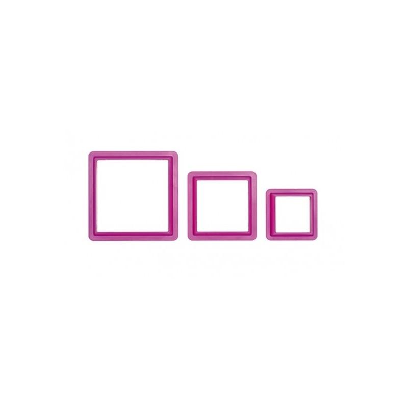 Set 3 tagliapasta quadrato Decora - in vendita su Sugarmania.it