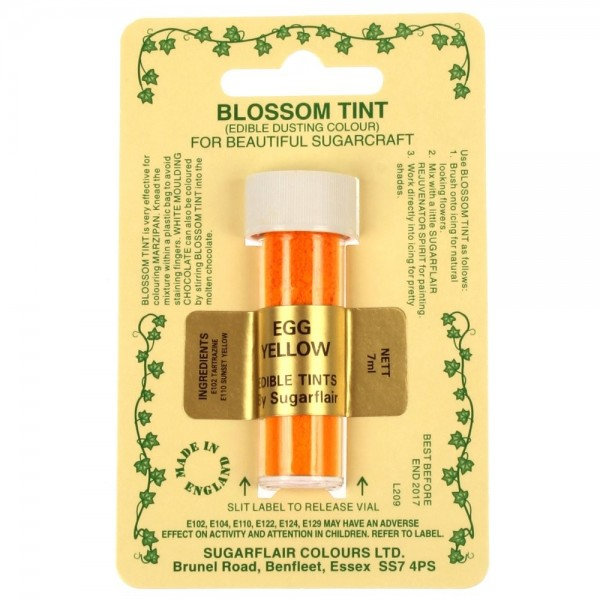Sugarflair Blossom Tint Powdered Food Colour Dust EGG YELLOW  - Sugarflair in vendita su Sugarmania.it