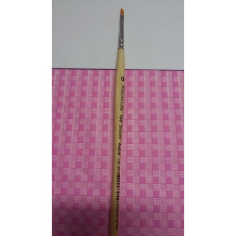 Pennello piatto pelo sintetico 708/0 misura piccola -  in vendita su Sugarmania.it